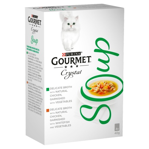 Gourmet Crystal Soup Chicken Multipack Adult Cat Food