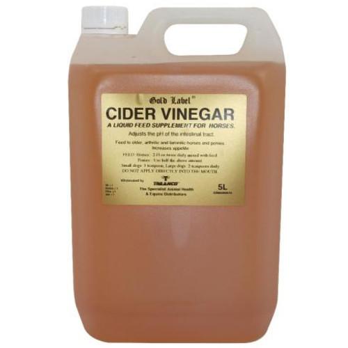 Gold Label Cider Vinegar Horse Supplement 5 Litres