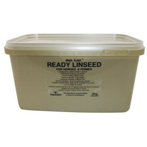 Gold Label Ready Linseed Horse Supplement 3kg