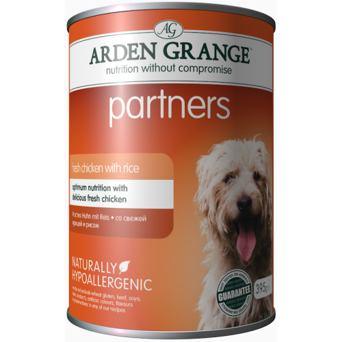 Arden Grange Partners Chicken & Rice Wet Adult Dog Food 395g x 24