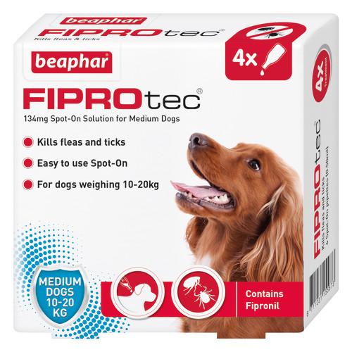 Beaphar FIPROtec Spot On for Dogs Medium Dog 4 Pipettes