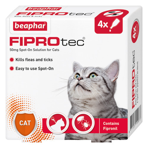 Beaphar FIPROtec Spot On for Cats 4 Pipettes