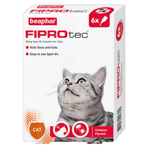 Beaphar FIPROtec Spot On for Cats 6 Pipettes