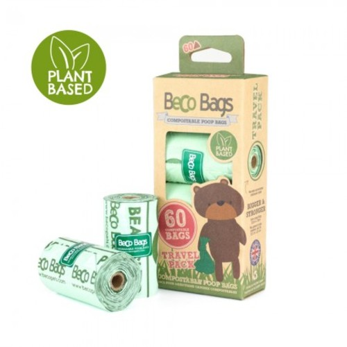 Beco Compostable Unscented Poop Bags 60 bags