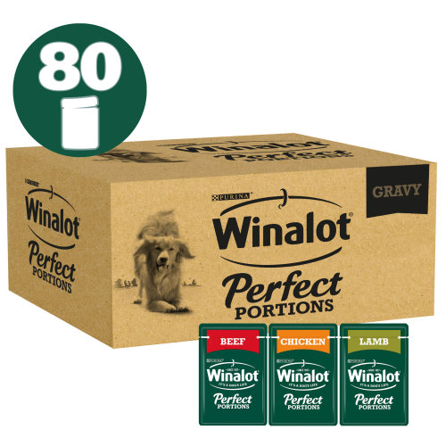 Winalot Perfect Portions Multipack in Gravy Wet Adult Dog Food 100g x 80