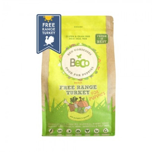 Beco Free-range Turkey Dry Puppy Food 2kg