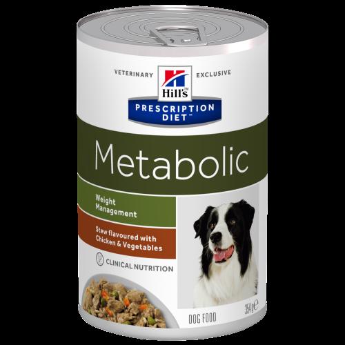 Hills Prescription Diet Metabolic Chicken & Veg Stew Wet Dog Food 354g x 12