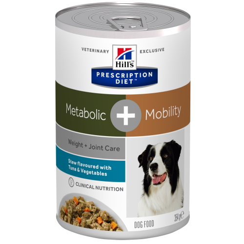 Hills Prescription Diet Metabolic + Mobility Tuna & Veg Stew Wet Dog Food 354g x 12