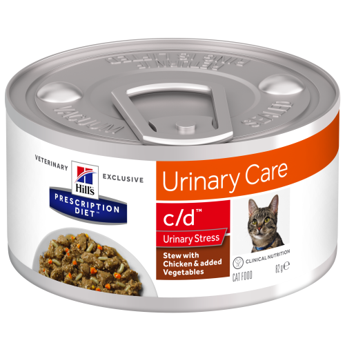 Hills Prescription Diet CD Stress Chicken & Veg Stew Wet Cat Food 82g x 24