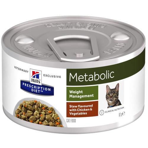 Hills Prescription Diet Metabolic Chicken & Veg Stew Wet Cat Food 82g x 24
