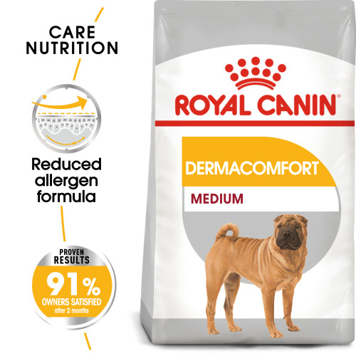 Royal Canin Medium Dermacomfort Adult Dry Dog Food 10kg x 2
