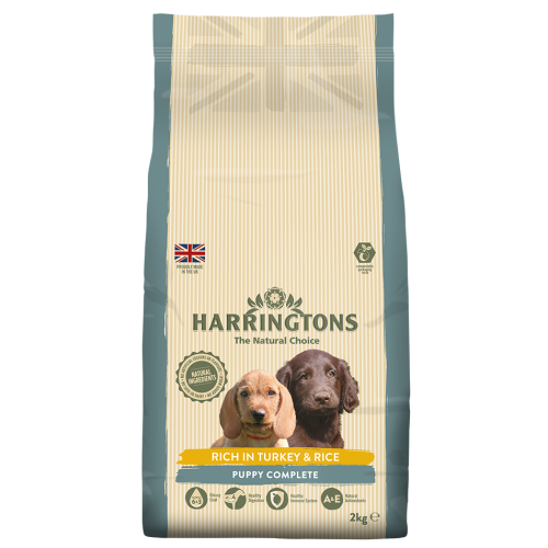 Harringtons Turkey & Rice Puppy Food 10kg x 2