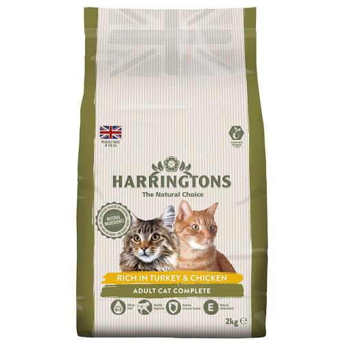 Harringtons Complete Turkey & Chicken Dry Adult Cat Food 2kg