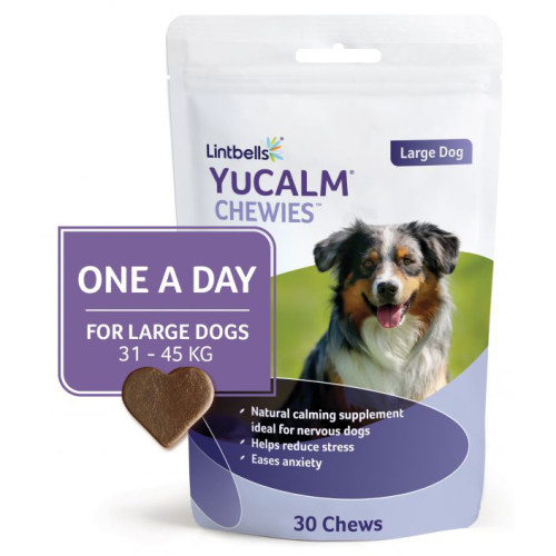 YuCALM Chewies One a Day Dog Calming Supplement Large Dogs - 30 Chews