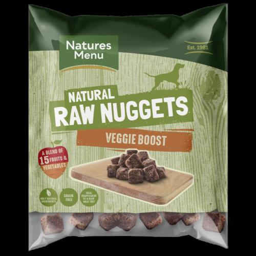 Natures Menu Complete Veggie Boost Nuggets Raw Frozen Dog Food 1kg