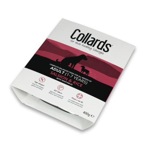 Collards Adult Salmon Rice & Veg Wet Dog Food Trays 400g x 7
