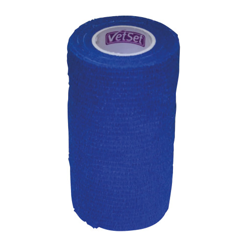 Vet Set WrapTec Cohesive Bandage for Horses 100mm Blue