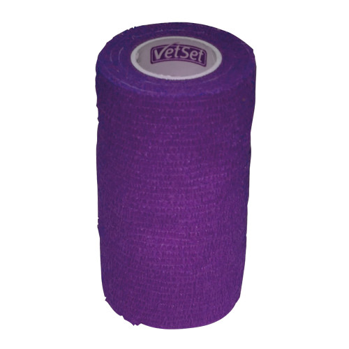 Vet Set WrapTec Cohesive Bandage for Horses 100mm Purple