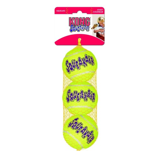 KONG Air Squeaker Tennis Ball Dog Toy Extra Small 3 pack