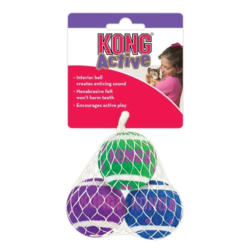 KONG Tennis Balls with Bells Cat Toy