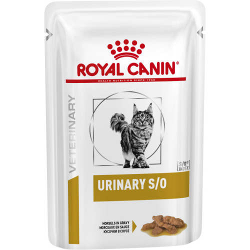 Royal Canin Veterinary Diets Urinary SO Pouches Cat Food 85g x 48 Morsels in Gravy