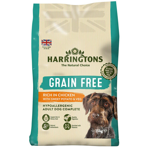 Harringtons Grain Free Chicken & Sweet Potato Adult Dog Food 15kg