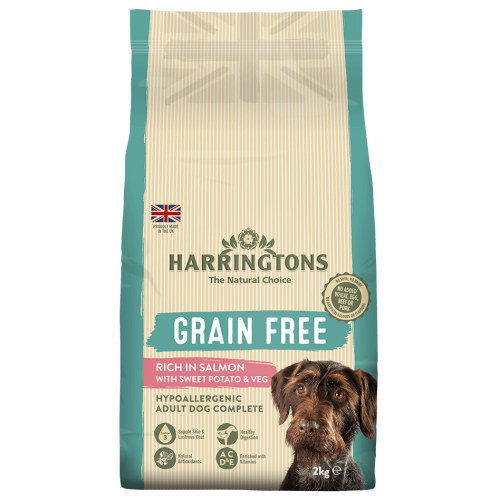 Harringtons Grain Free Salmon & Sweet Potato Adult Dog Food 2kg
