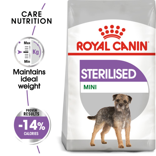 Royal Canin Mini Sterilised Care Dry Adult Dog Food 8kg x 2