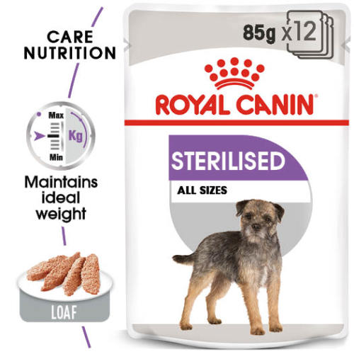 Royal Canin Sterilised Care Wet Adult Dog Food Pouches 85g x 12