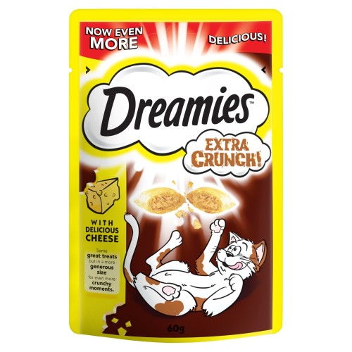 Dreamies Extra Crunch Cat Treats Cheese 60g