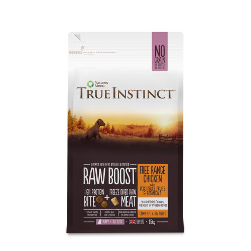 True Instinct Raw Boost Free Range Chicken Dry Puppy Food 1.5kg