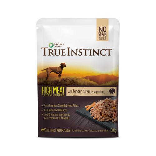 True Instinct High Meat Fillets Chicken with Turkey Adult Wet Dog Food Pouches 300g x 24