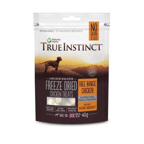 True Instinct Chicken Freeze Dried Dog Treats 40g