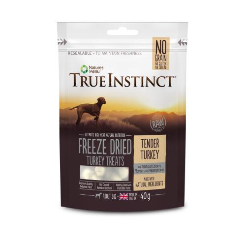 True Instinct Turkey Freeze Dried Dog Treats 40g