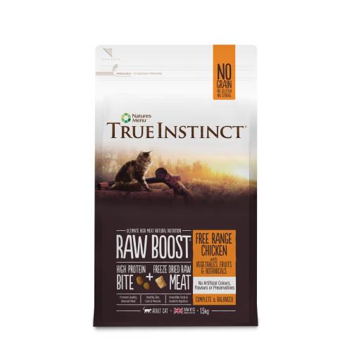 True Instinct Raw Boost Free Range Chicken Dry Adult Cat Food 1.5kg x 3