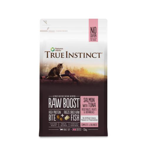 True Instinct Raw Boost Salmon & Tuna Dry Adult Cat Food 1.5kg