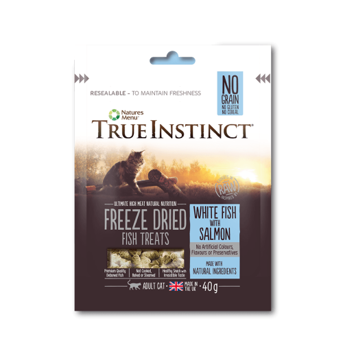 True Instinct White Fish & Salmon Freeze Dried Cat Treats 40g