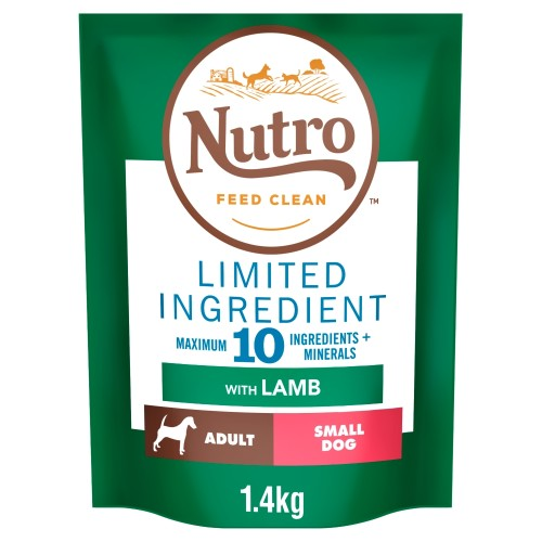Nutro Limited Ingredient Lamb Small Adult Dry Dog Food 1.4kg - Try Me for Free*