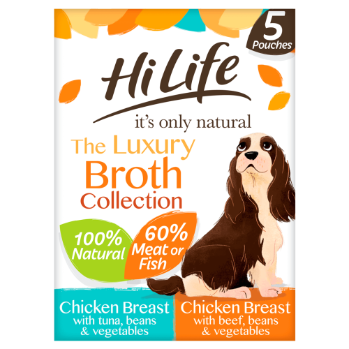 HiLife Its Only Natural Luxury Broth Collection Wet Dog Food 100g x 45
