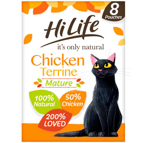 HiLife Its Only Natural Chicken Terrine Wet Senior Cat Food 70g x 8