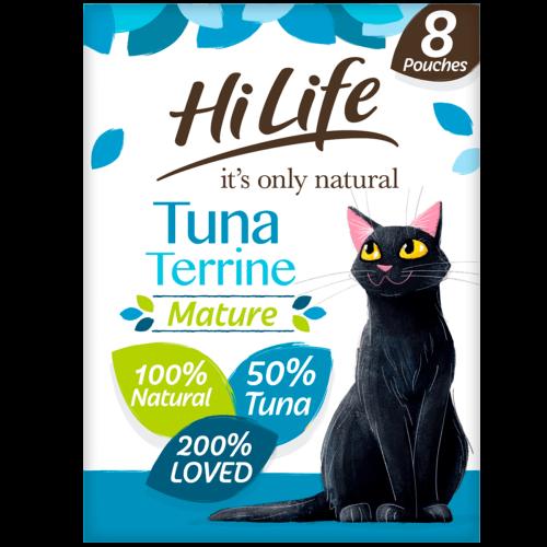 HiLife Its Only Natural Tuna Terrine Wet Senior Cat Food 70g x 8