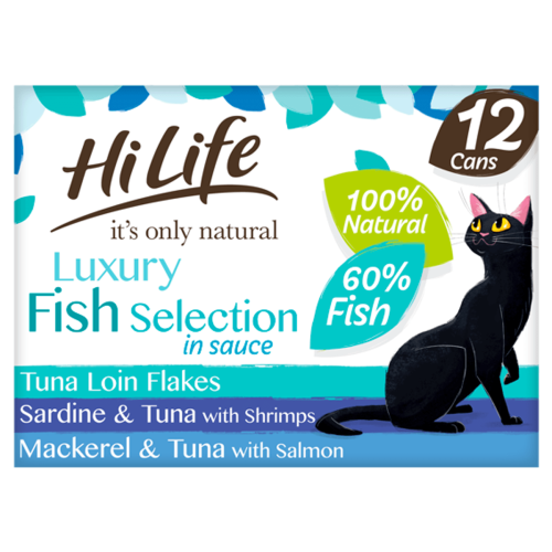 HiLife Its Only Natural Luxury Fish Selection in Sauce Wet Cat Food 70g x 12