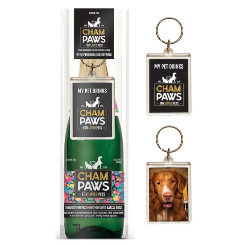 Champaws Gift Pack with Keyring for Cats and Dogs Gift Pack