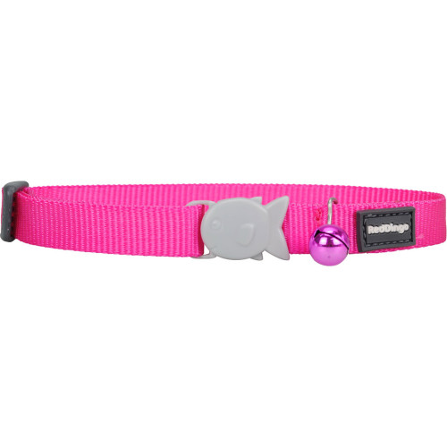 Red Dingo Cat Collar Plain Classic Hot Pink