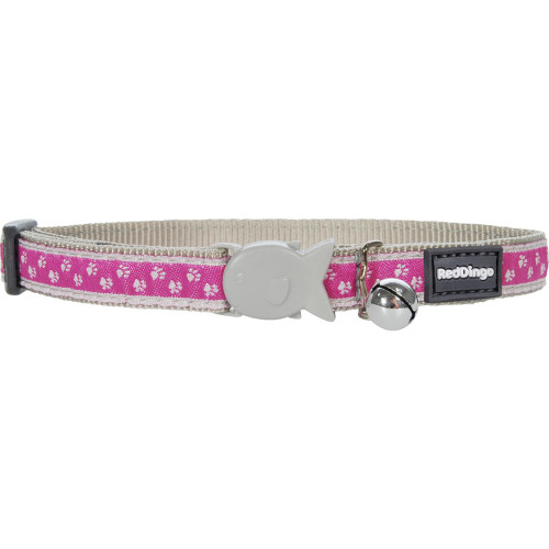 Red Dingo Pussy Prints Cat Collar Pink
