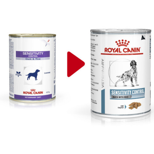 Royal Canin Veterinary Sensitivity Control Cans 420g x 12 Duck