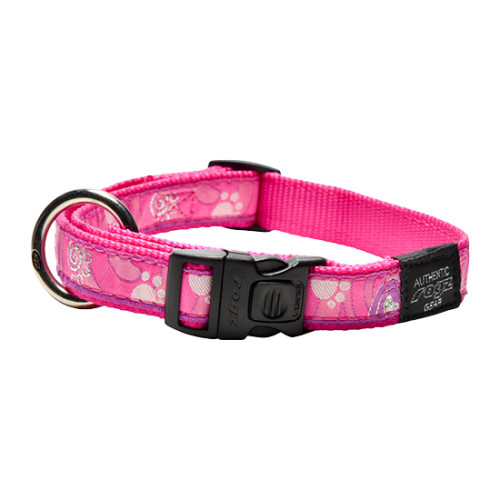 Rogz Fancy Dress Pink Love Dog Collar Small