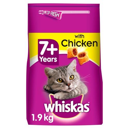 Whiskas 7+ Chicken Dry Senior Cat Food 1.9kg