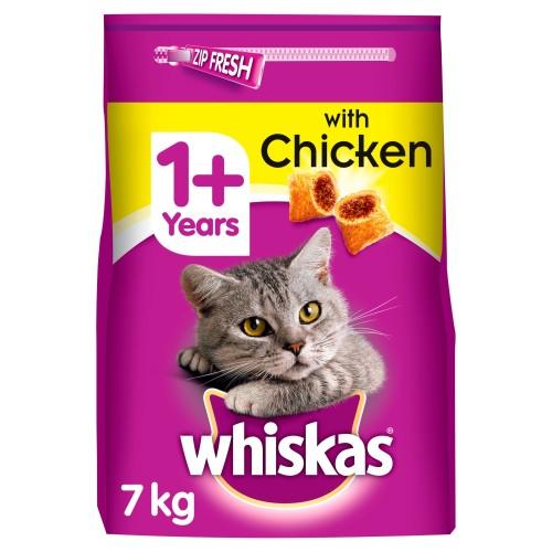 Whiskas Dry 1+ Chicken Adult Cat Food 7kg