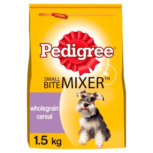 Pedigree Small Bite Mixer Adult Dog Food 1.5kg